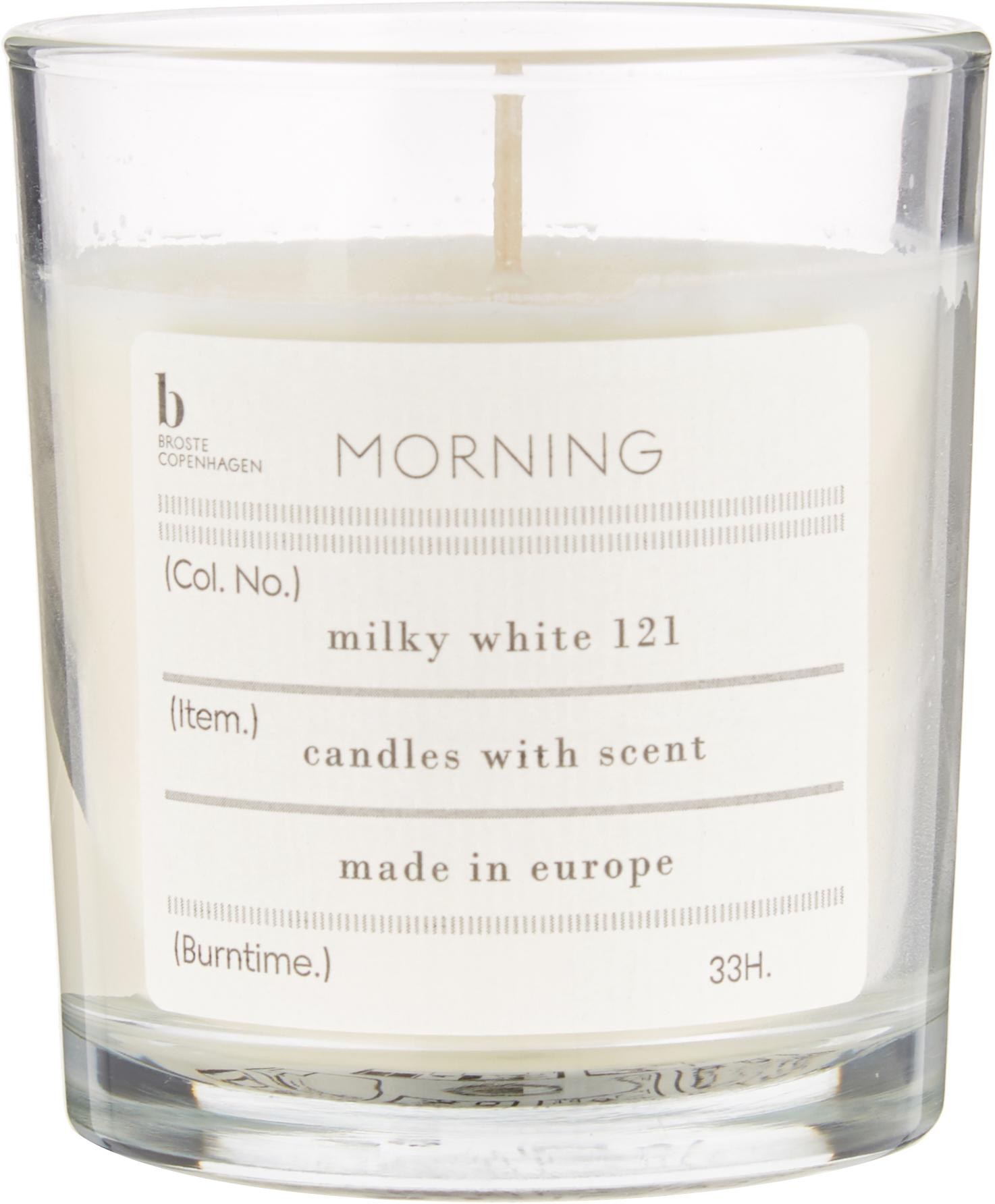 Vela perfumada Morning (pomelo), Cera de soja natural, vidrio, Transparente, Ø 8 x Al 8 cm
