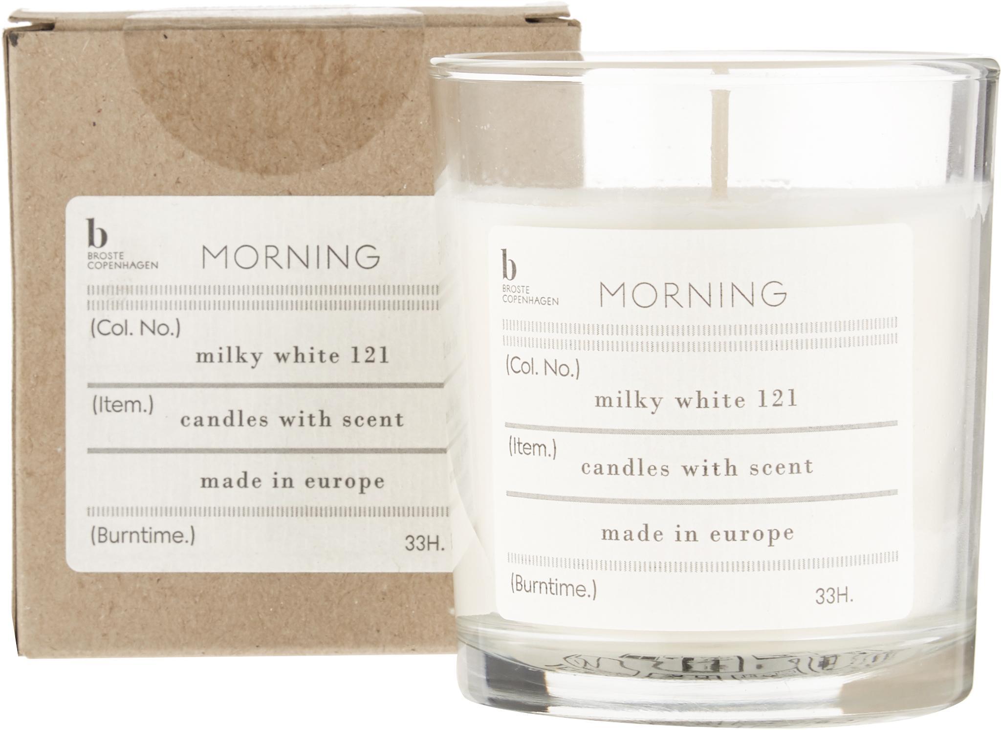 Candela profumata Morning (pompelmo), Cera di soia naturale, vetro, Trasparente, Ø 8 x Alt. 8 cm