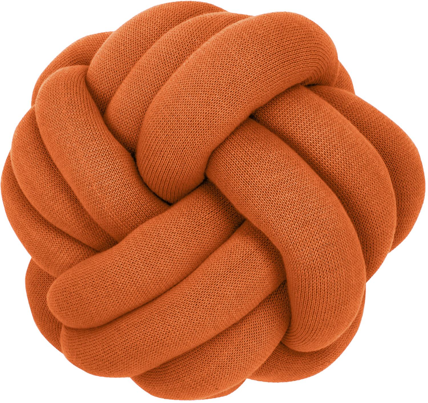 Cuscino annodato color terracotta Twist, Terracotta, Ø 30 cm