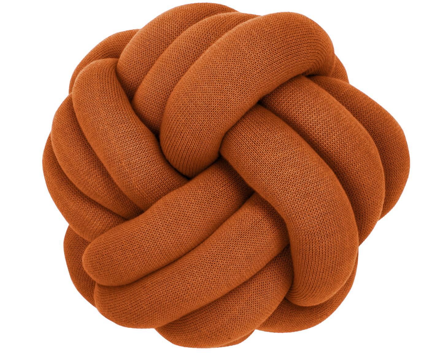 Cojín nudo Twist, Terracota, Ø 30 cm