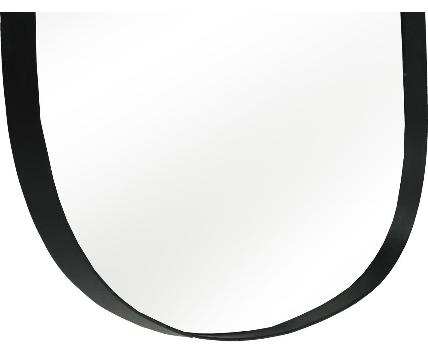 Wandspiegel Codol met zwarte lijst, Frame: gecoat metaal, Zwart, 56 x 66 cm