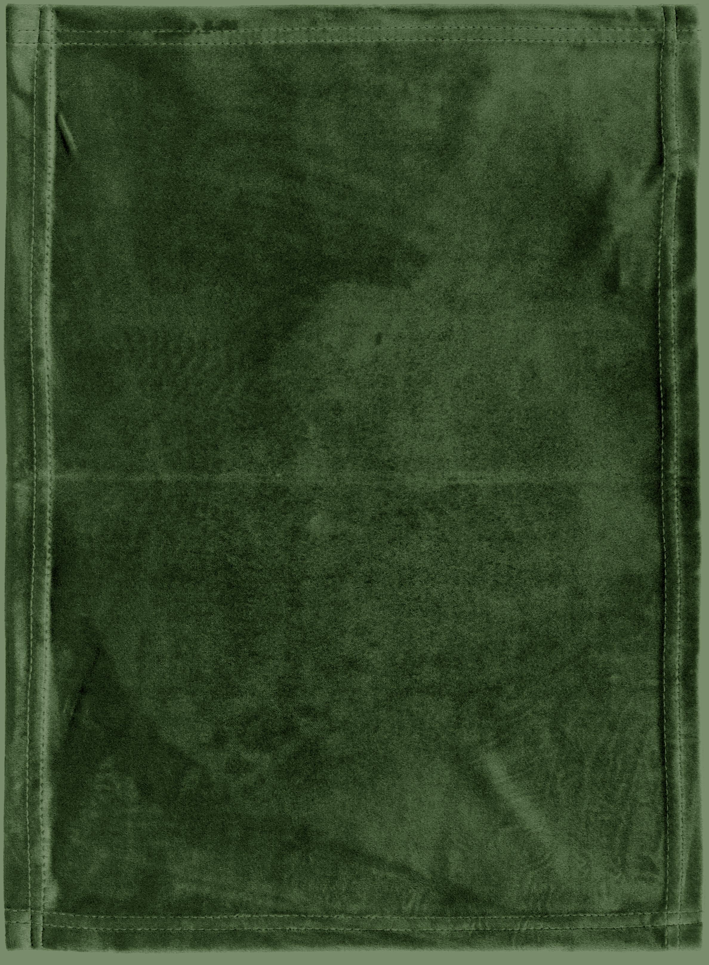 Samt-Tischsets Simone, 2 Stück, 100% Polyestersamt, Olivgrün, 35 x 45 cm
