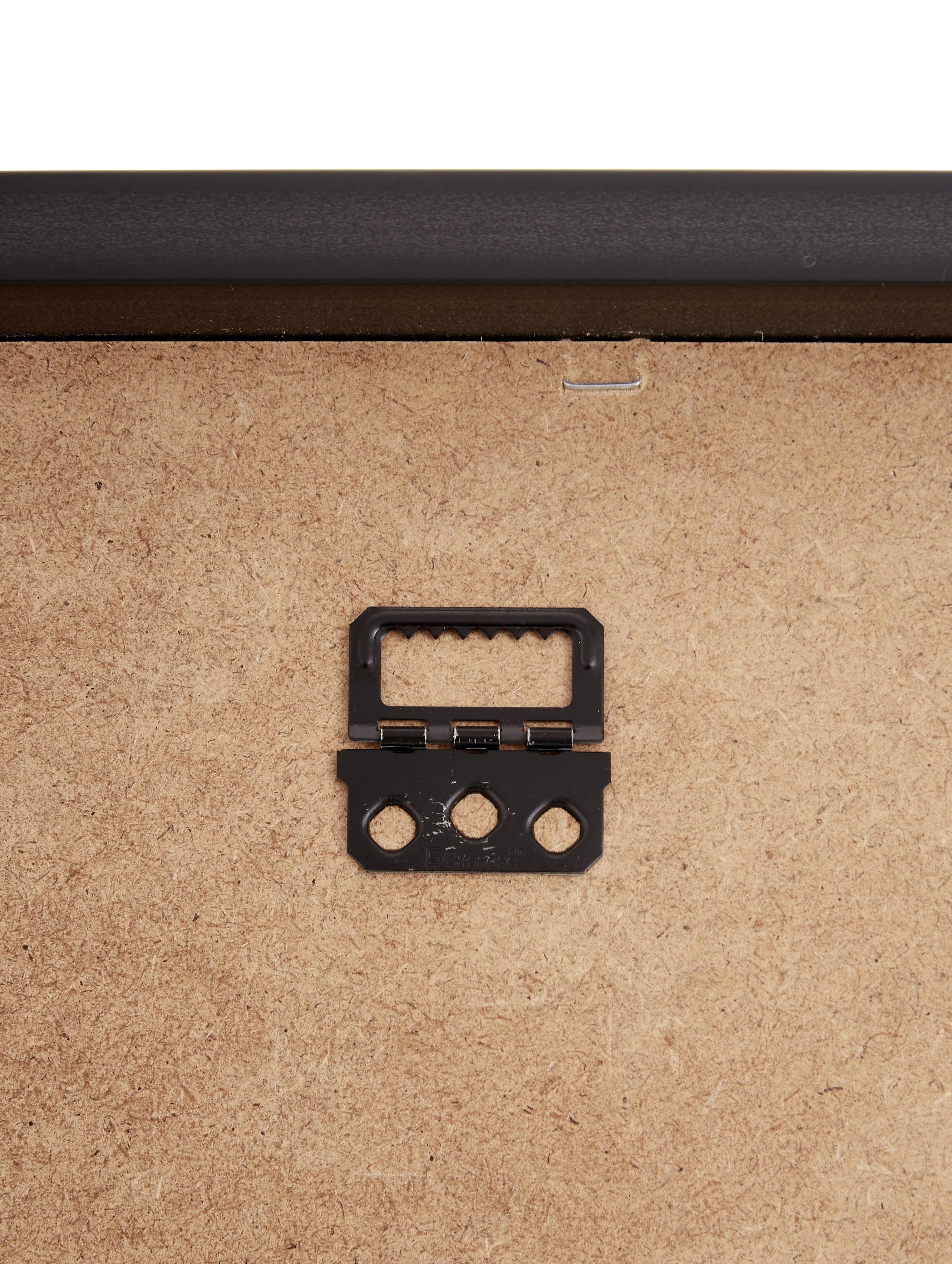 Gerahmter Digitaldruck Akt Lady IV, Bild: Digitaldruck, Rahmen: Kunststoff, Front: Glas, Bild: Schwarz, Beige<br>Rahmen: Schwarz, 40 x 40 cm
