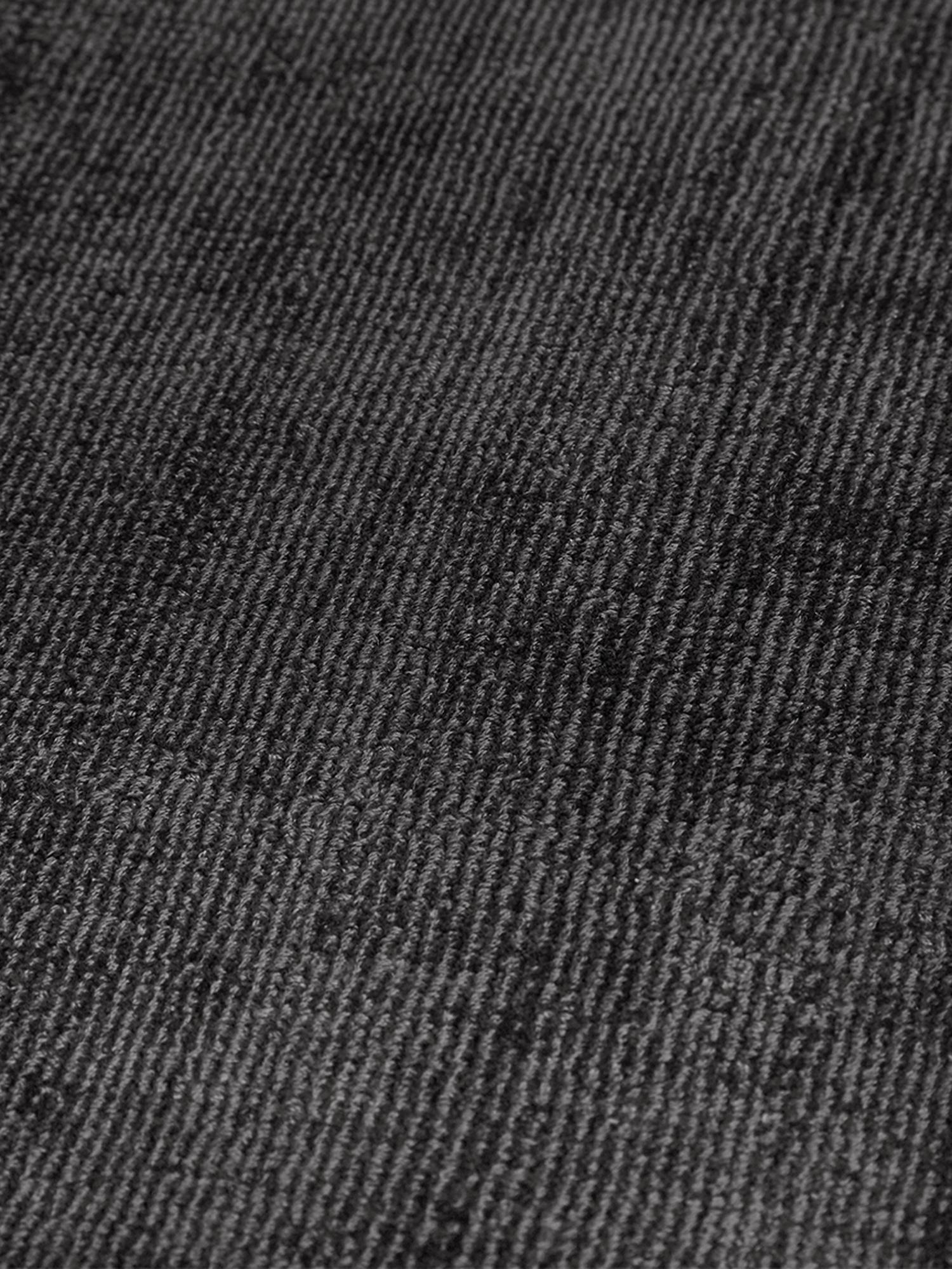 Tapis noir en viscose tissé main Jane, Anthracite-noir