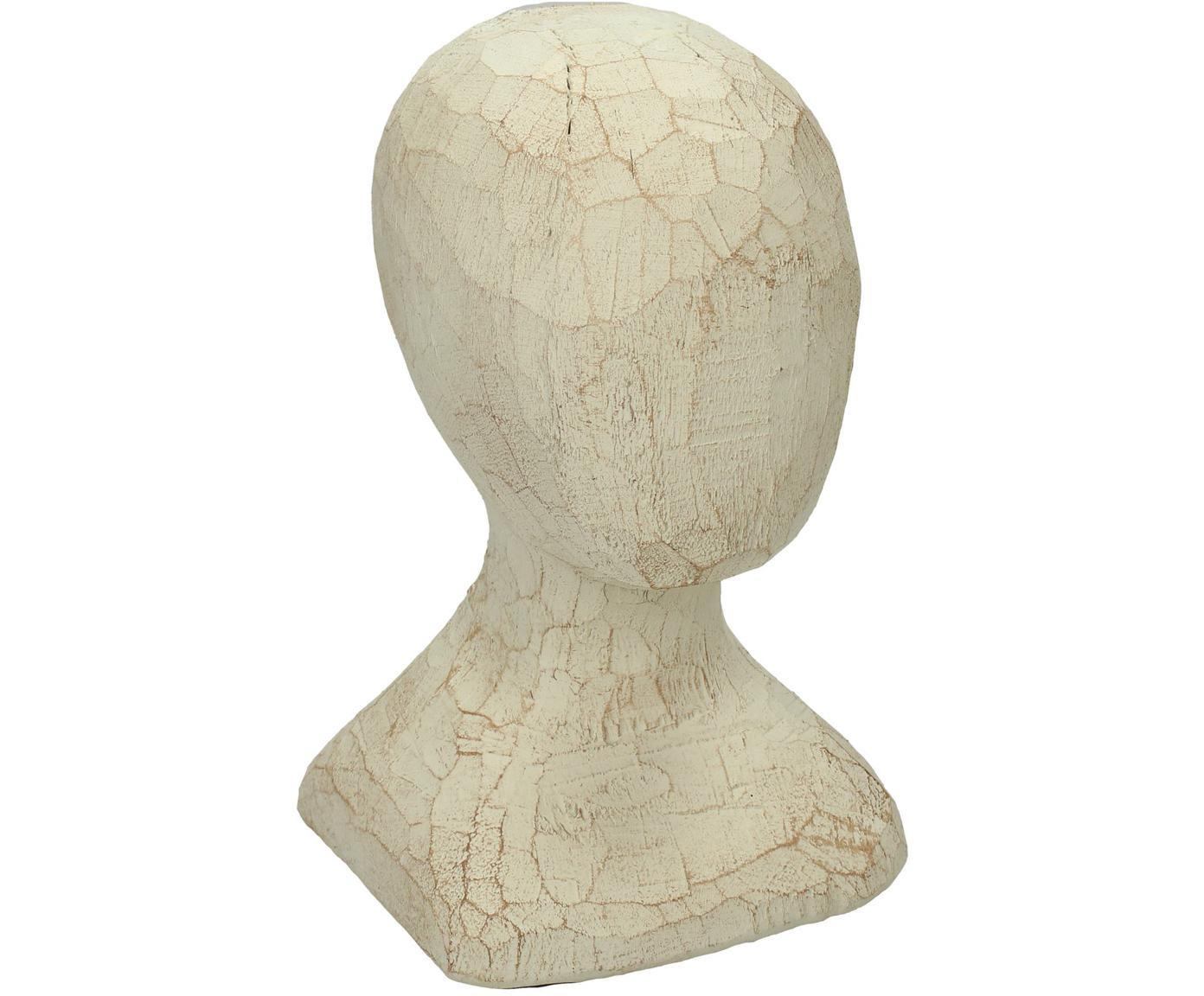 Dekoracja Head, Poliresing, Beżowy, S 12 x W 20 cm