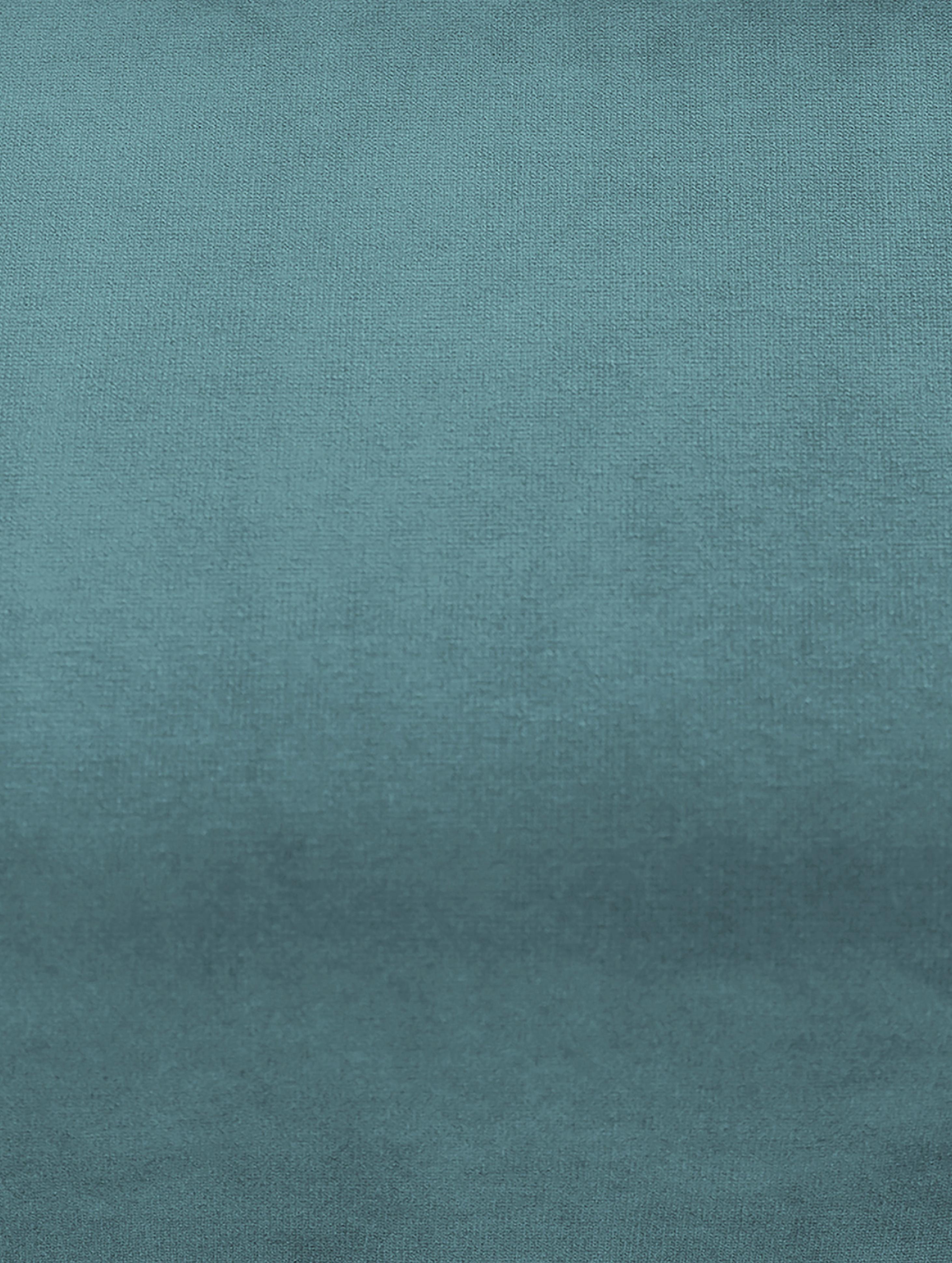 Divano 2 posti in velluto turchese Moby, Rivestimento: velluto (rivestimento in , Struttura: legno di pino massiccio, Piedini: metallo verniciato a polv, Turchese, Larg. 170 x Prof. 95 cm