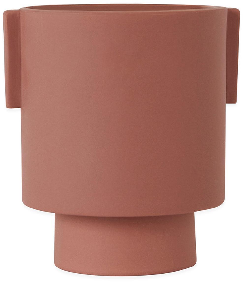 Portavaso fatto a mano in ceramica Ika, Ceramica, Terracotta, Ø 15 x Alt. 16 cm