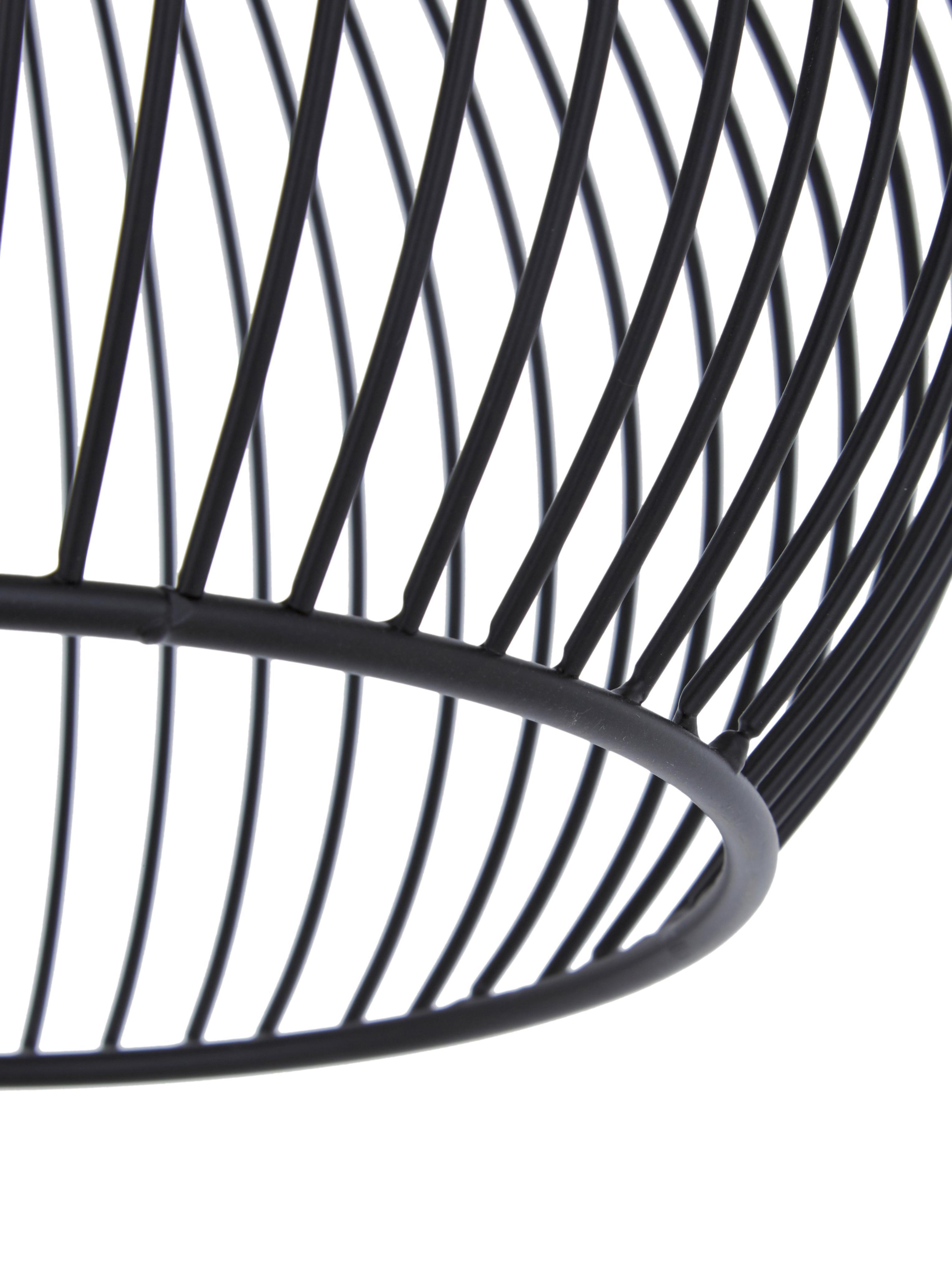 Design Pendelleuchte Aver, Lampenschirm: Stahl, lackiert, Baldachin: Kunststoff, Schwarz, Ø 40 x H 45 cm