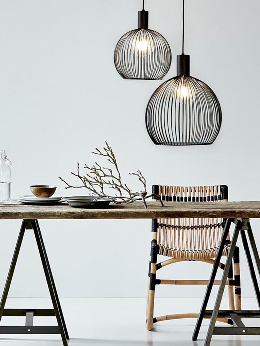 Lampa wisząca Aver, Czarny, Ø 40 x W 45 cm