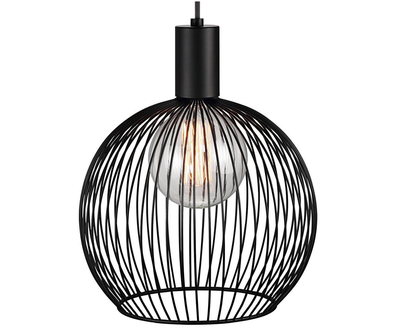 Lampa wisząca Aver, Czarny, Ø 30 x W 35 cm