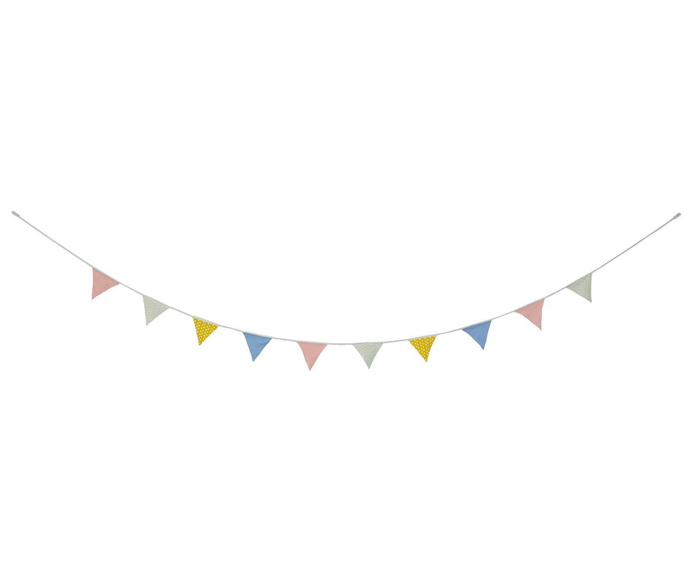 Girlande Triangles, 300 cm, Baumwolle, Mehrfarbig, 12 x 12 cm