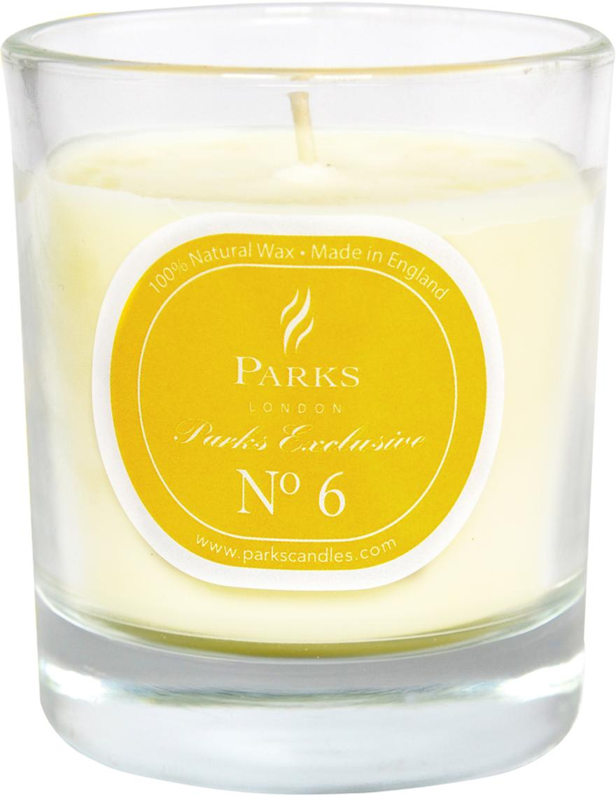 Candela profumata Exclusive No 6 (Lime & limone), Arancio, bianco, Ø 8 x Alt. 9 cm