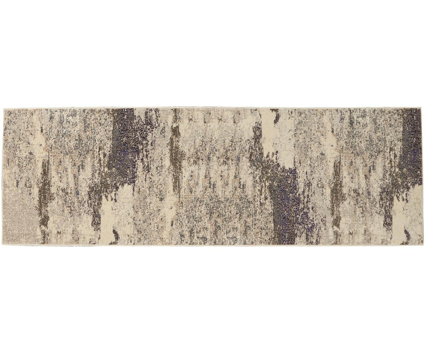Loper Celestial, Bovenzijde: polypropyleen, Onderzijde: latex, Beigetinten, 60 x 180 cm