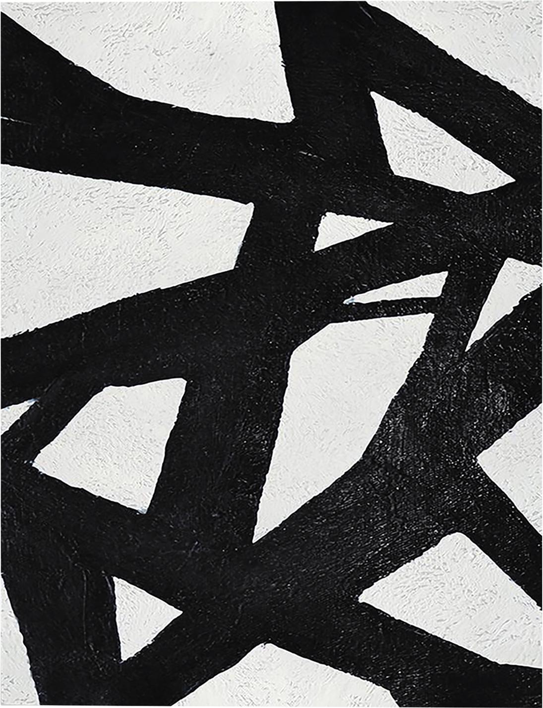 Stampa su tela Roads, Immagine: stampa digitale su lino, Nero, bianco, Larg. 80 x Alt. 100 cm