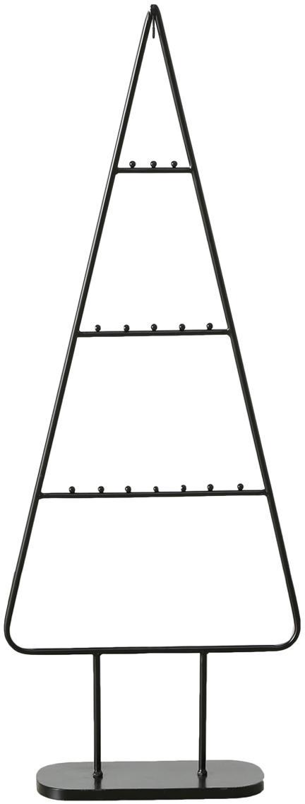 Deko-Objekt Theo, Metall, pulverbeschichtet, Schwarz, 42 x 111 cm
