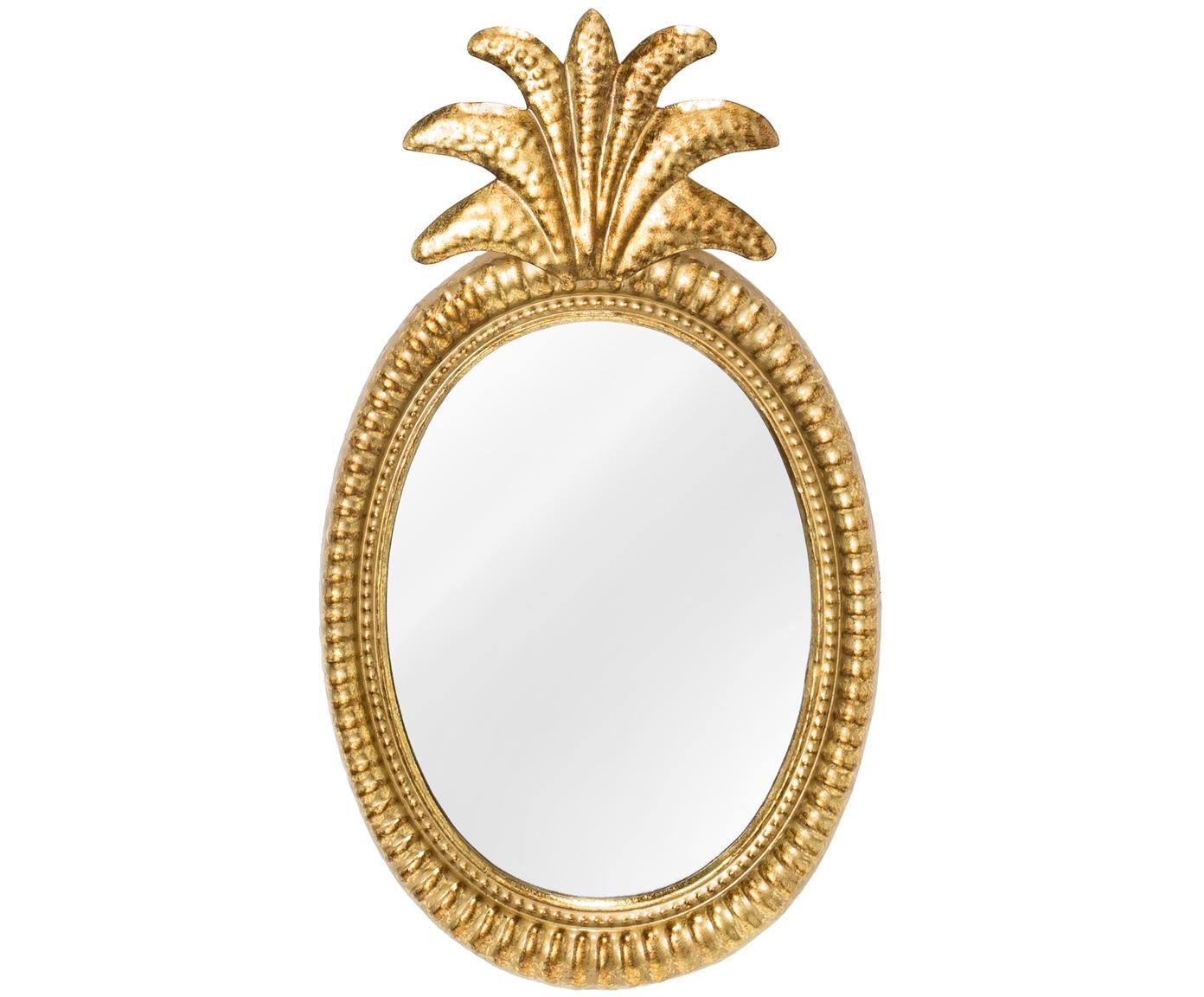 Espejo de pared Ana, Espejo: cristal, Dorado, An 27 x Al 49 cm