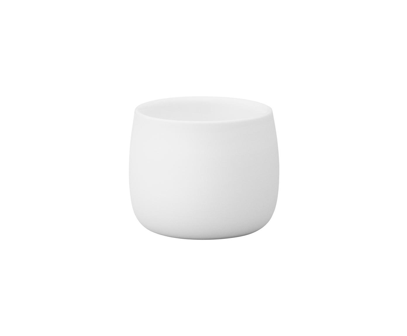 Tazas térmicas de café Foster, 2uds., Porcelana, Exterior: blanco mate Interior: blanco brillante, 40 ml