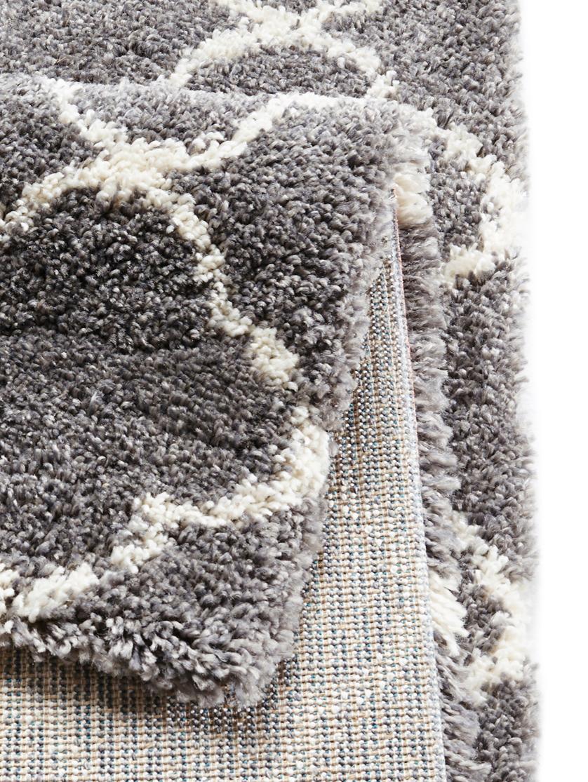 Tappeto a pelo corto grigio scuro-crema Grace, Retro: juta, Grigio scuro, crema, Larg. 80 x Lung. 150 cm (taglia XS)