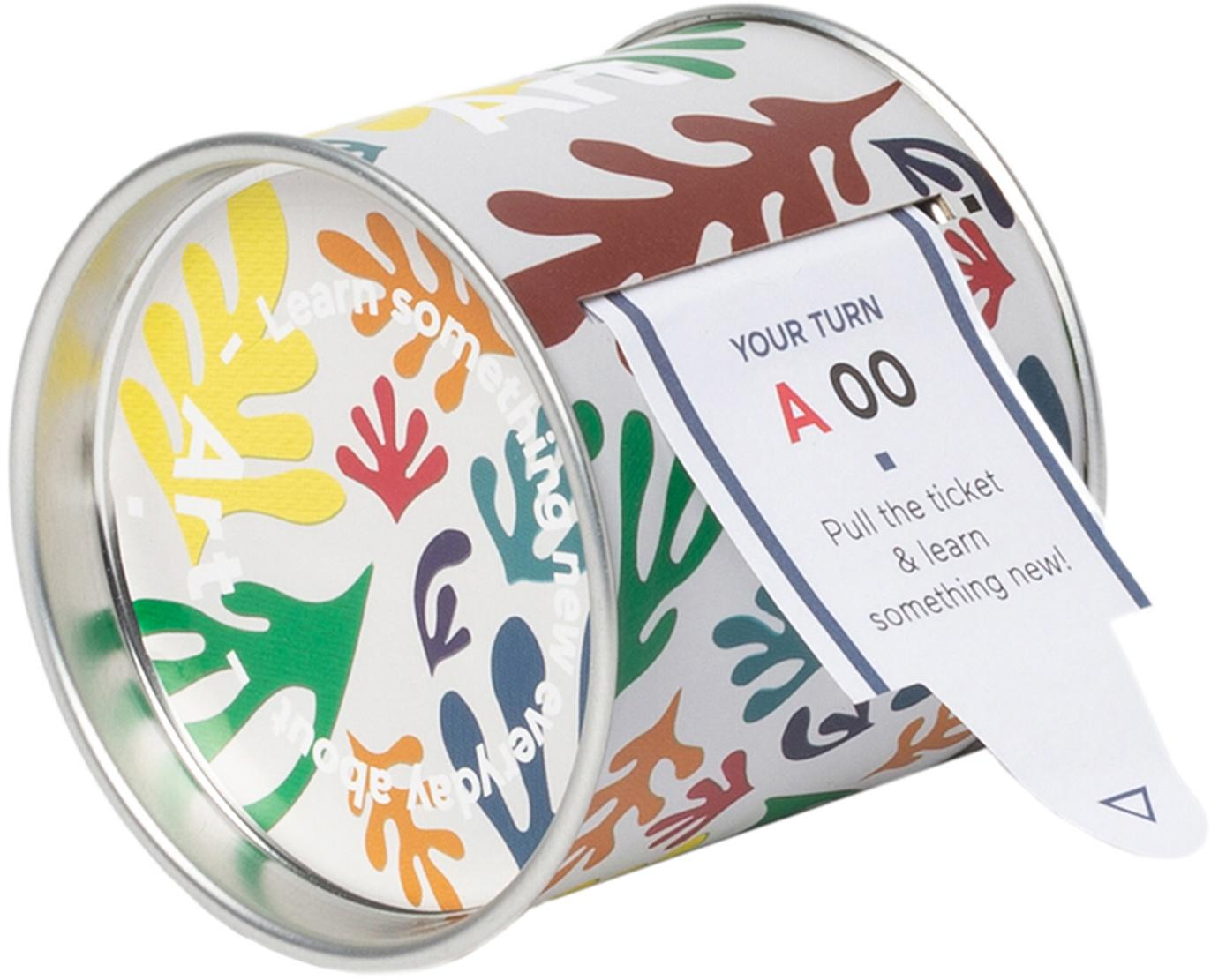 Karten-Set Learn something about Art, 100-tlg., Box: Metall, Mehrfarbig, 10 x 8 cm
