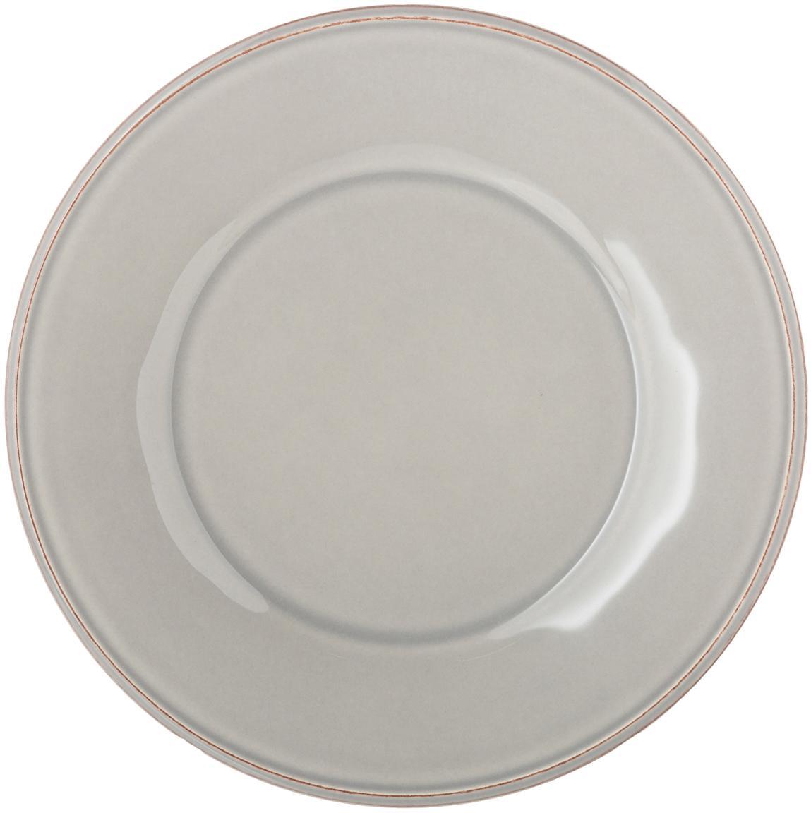 Piattino da dessert grigio chiaro Constance 2 pz, Terracotta, Grigio chiaro, Ø 24 cm