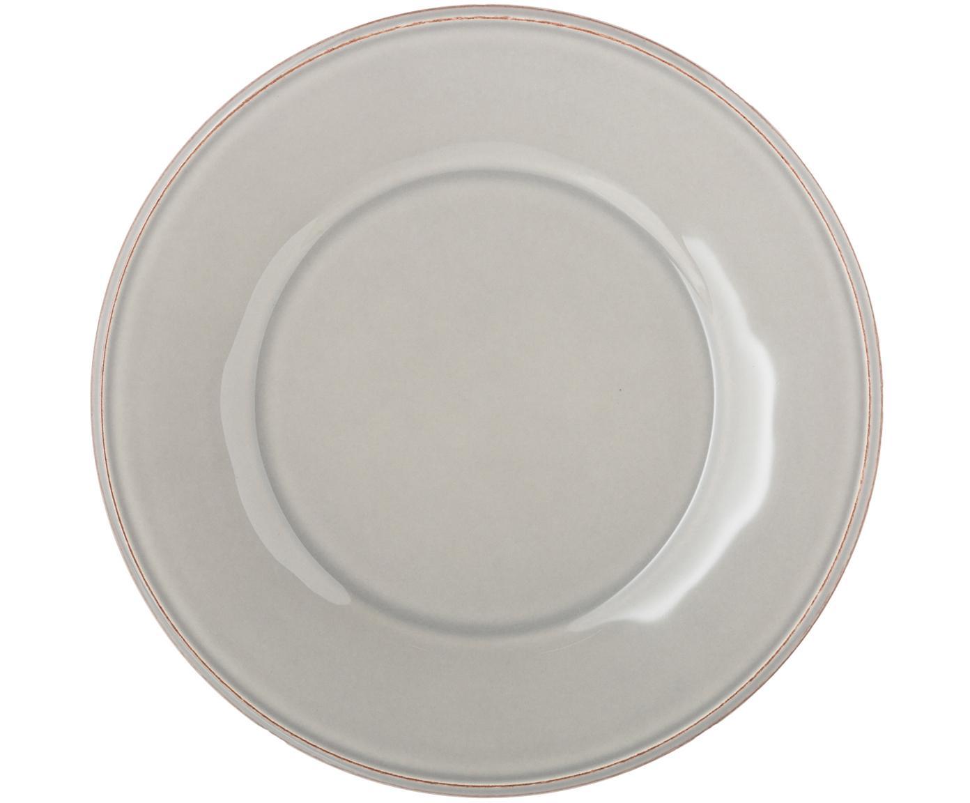 Piatto da colazione grigio chiaro Constance 2 pz, Ceramica, Grigio chiaro, Ø 24 cm