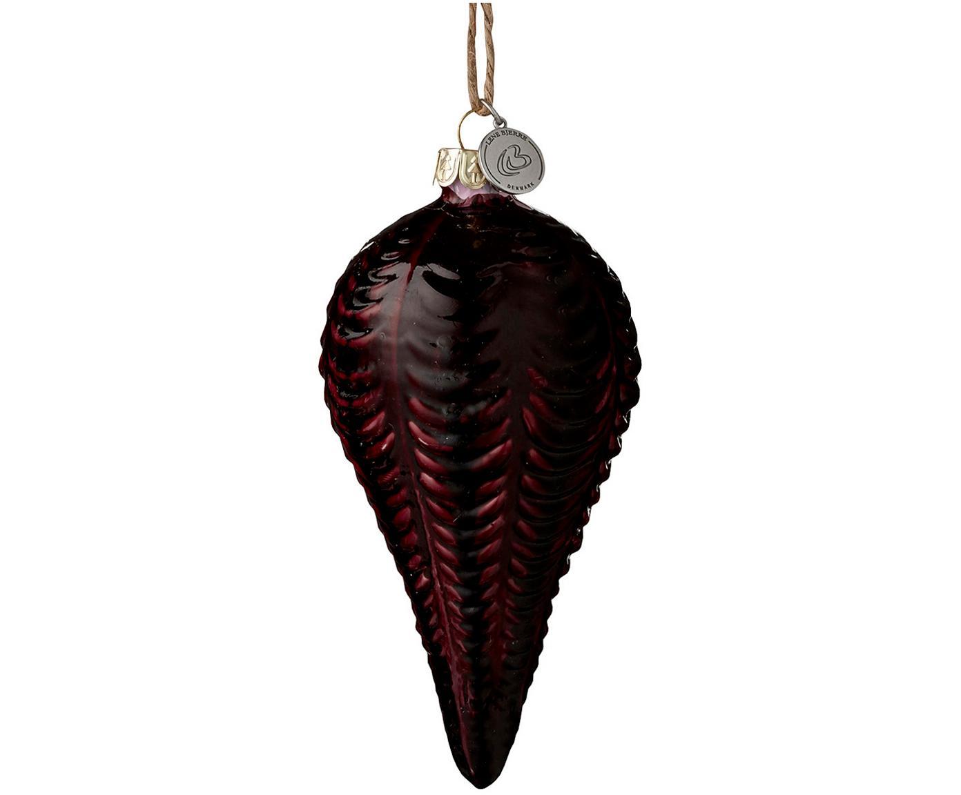 Bombka choinkowa Cemianne, 2szt., Ciemny czerwony, Ø 7 x W 12 cm