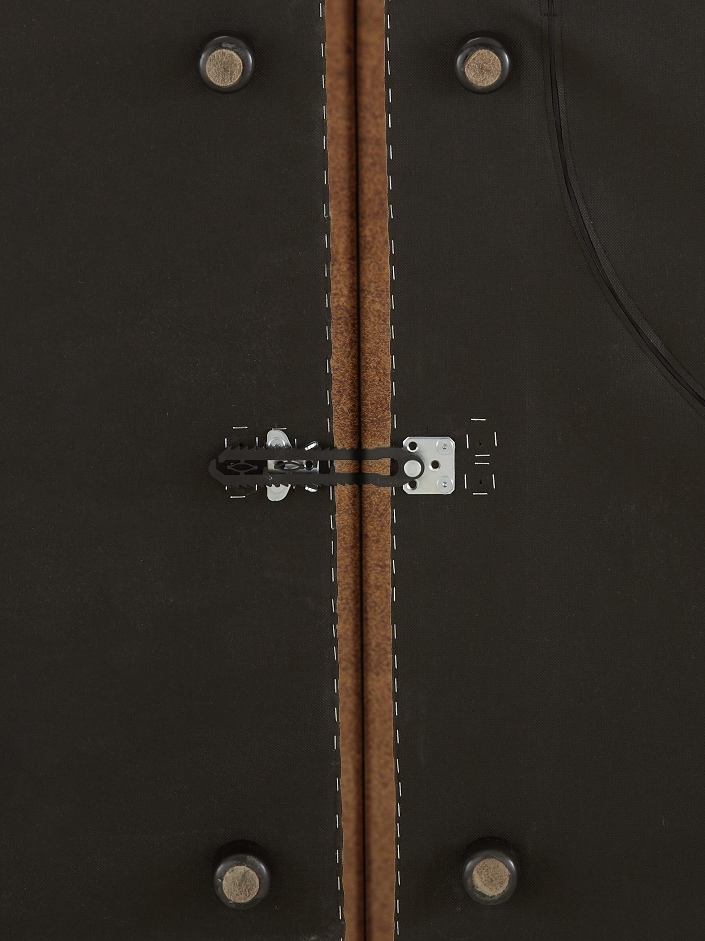 Modulaire leren hoekbank Lennon, Bekleding: 70% leer, 30% polyester, Frame: massief grenenhout, multi, Poten: kunststof, Bruin, B 326 x D 207 cm