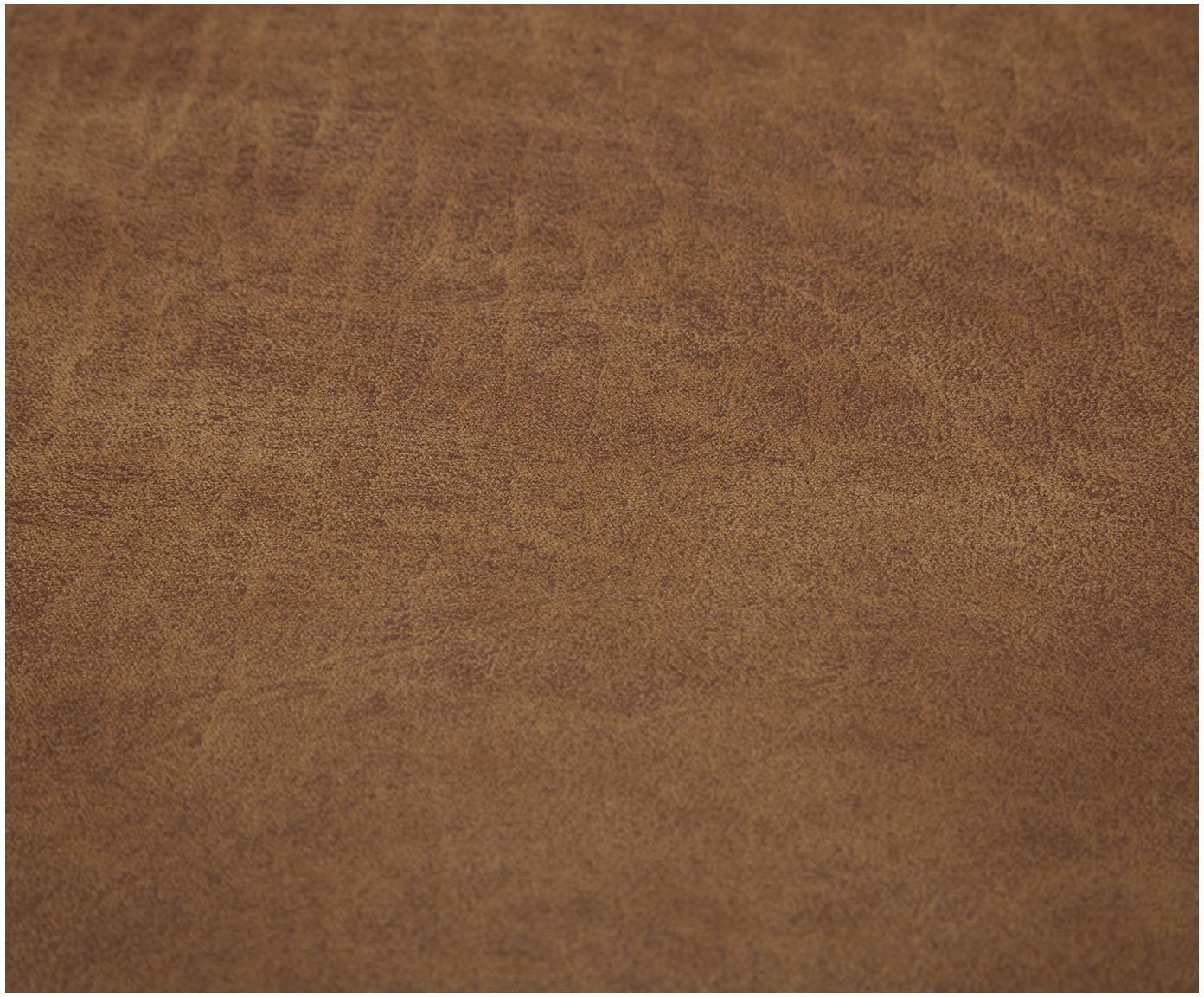 Modulární rohová pohovka z kůže Lennon, Hnědá