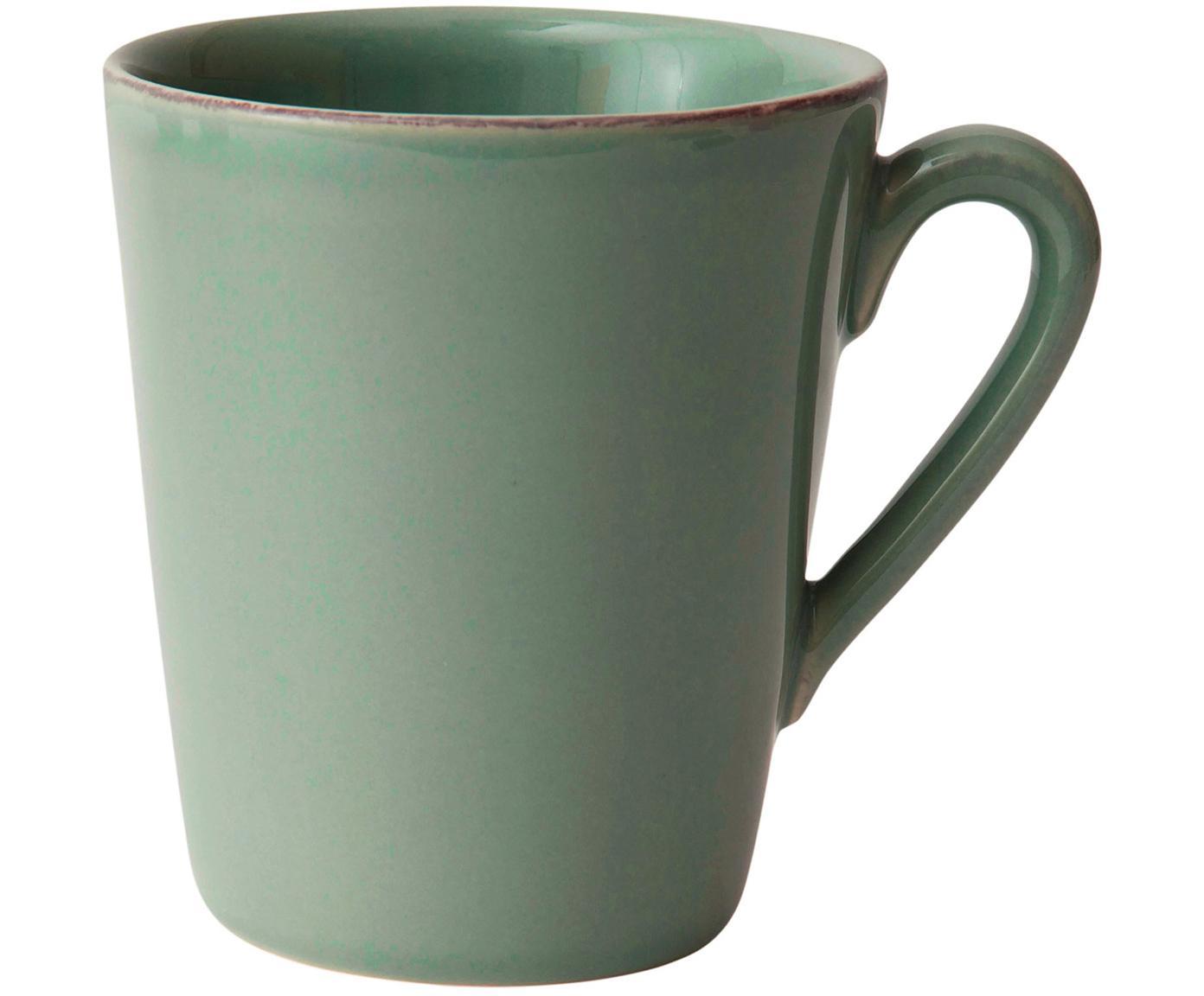 Tazas Constance, 2uds., Gres, Verde salvia, Ø 12 x Al 10 cm