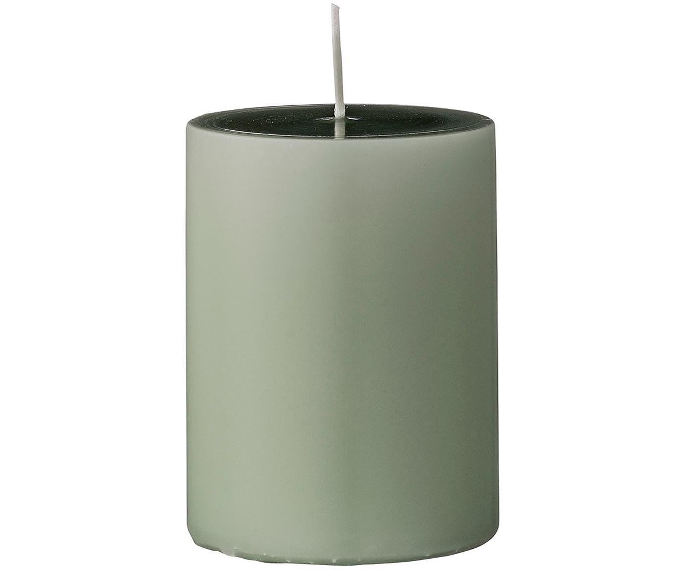 Świece pieńkowe Lulu, 4 elem., Wosk, Jasny zielony, Ø 7 x W 10 cm
