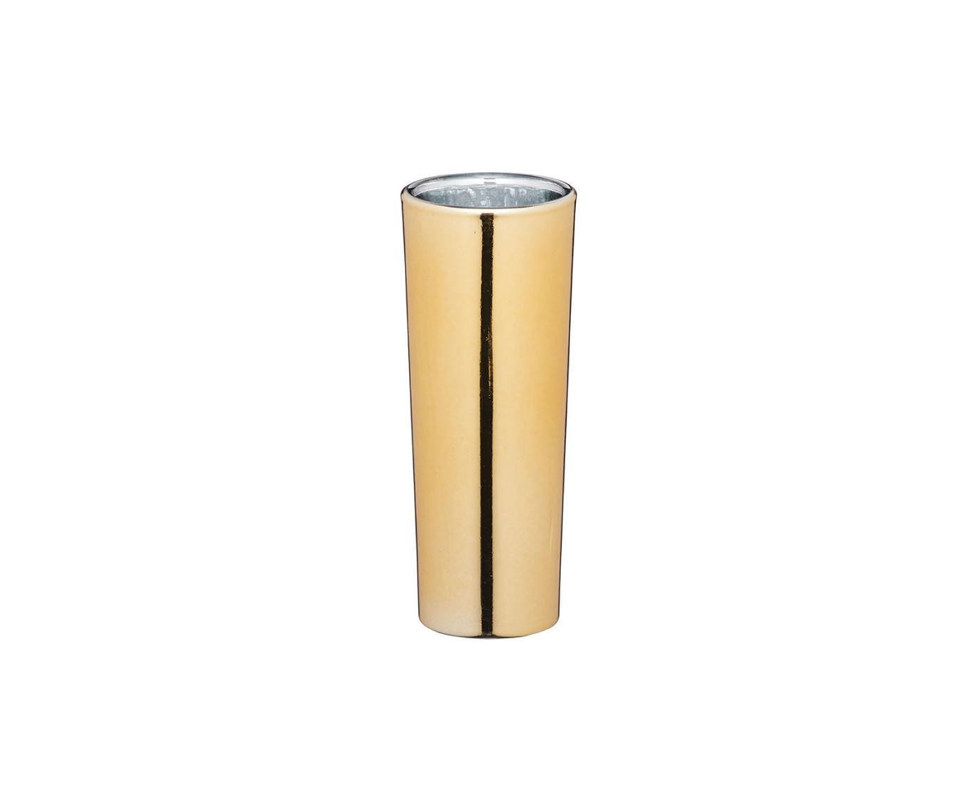 Vasos chupito Bar Craft, 4uds., Vidrio recubierto, Dorado, Ø 4 x Al 10 cm