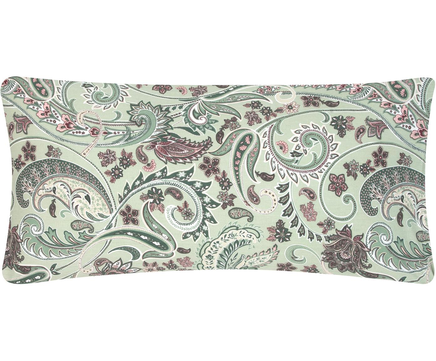 Poszewka na poduszkę z bawełny renforcé Liana, 2 szt., Zielony, wielobarwny, S 40 x D 80 cm