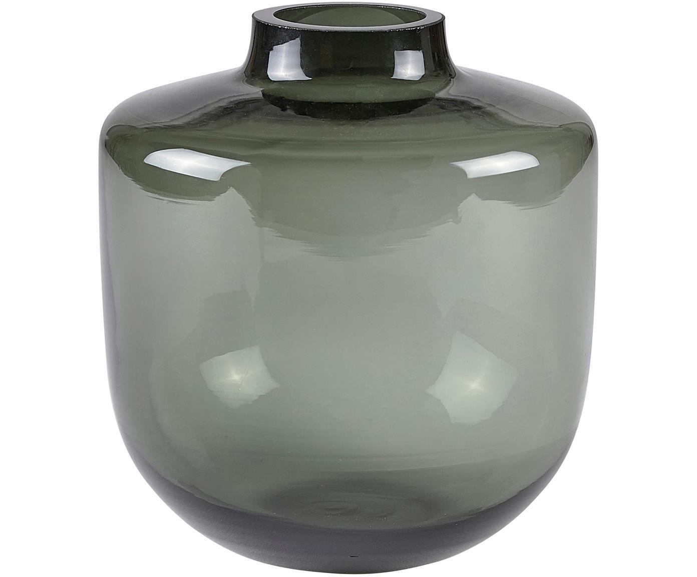 Vase Ragu, Glas, Grau, transparent, Ø 15 x H 16 cm