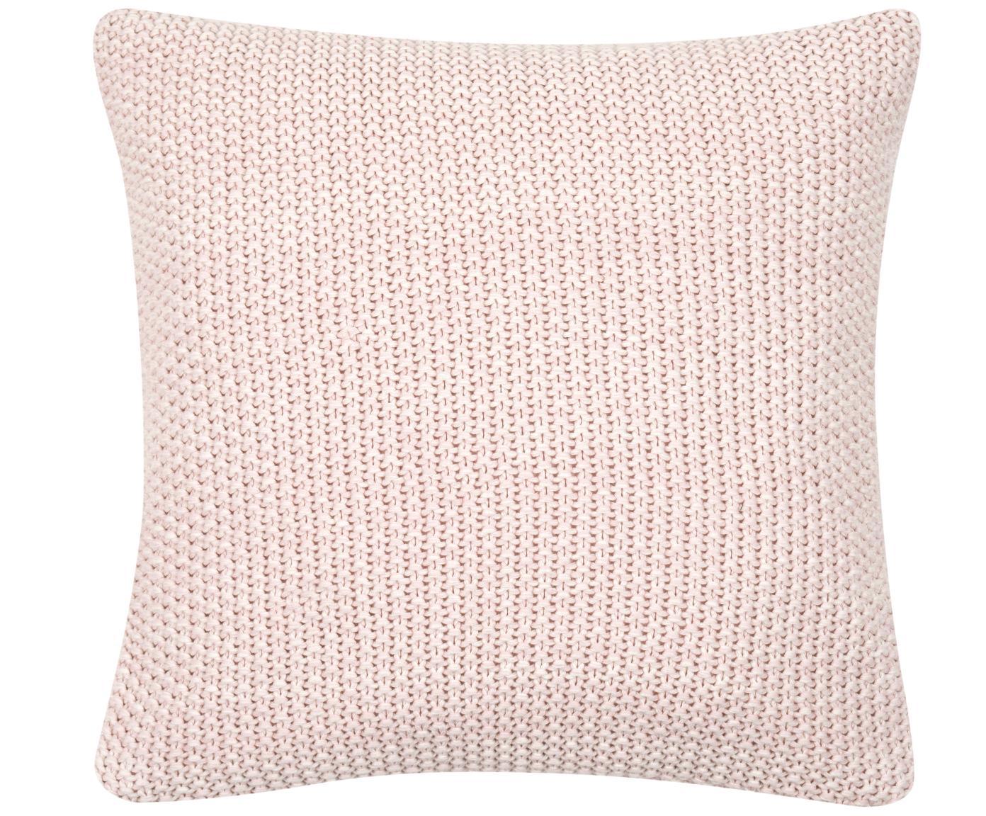 Poszewka na poduszkę z dzianiny Wilma, 100% bawełna, Różowy, melanżowy, S 40 x D 40 cm