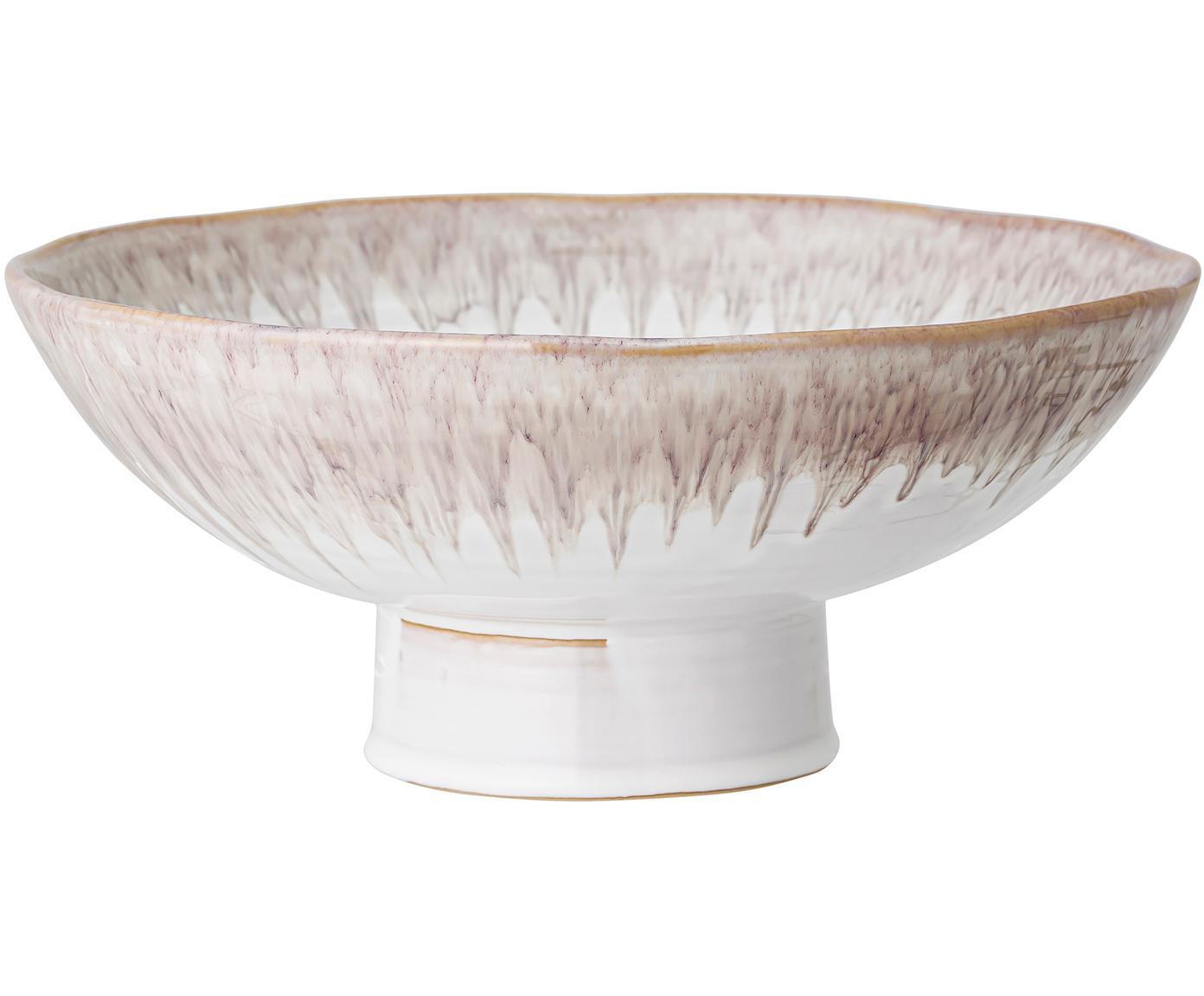 Handgemachte Schale Caya, Steingut, Beige, Ø 31 x H 13 cm