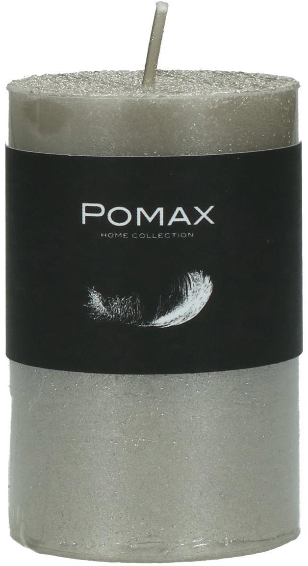 Candela profumata Arda, 80% paraffina, 20% cera di palma, Argentato, Ø 5 x Alt. 8 cm