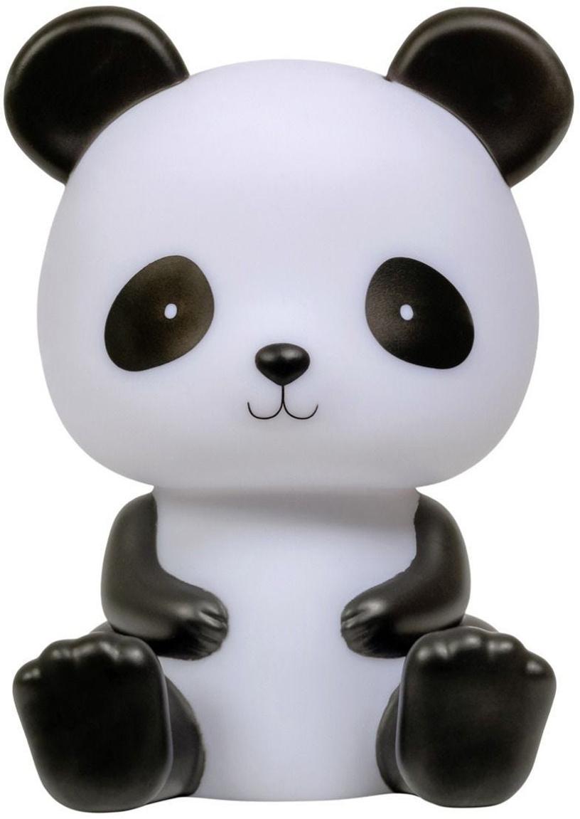 Lámpara decorativa LED Panda, Plástico, libre de BPA, plomo y ftalato, Blanco, negro, An 12 x Al 19 cm