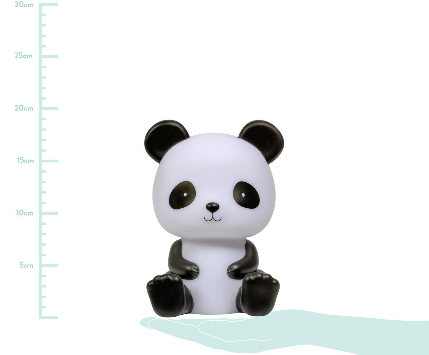 Oggetto luminoso a LED Panda, Senza plastica, BPA, piombo e ftalati, Bianco, nero, Larg. 12 x Alt. 19 cm