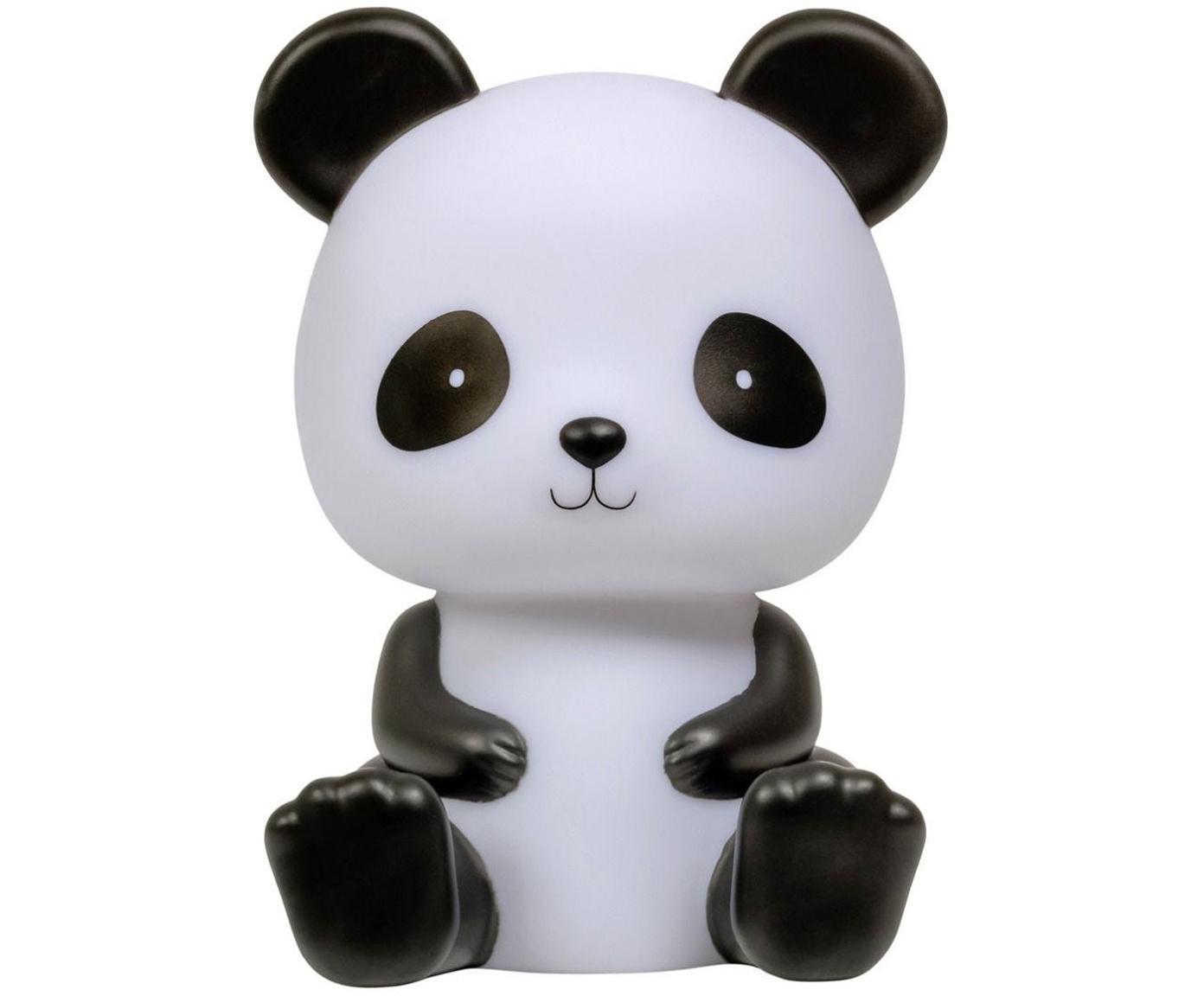 LED Leuchtobjekt Panda, Kunststoff, BPA-, Blei- und Phthalatefrei, Weiss, Schwarz, 12 x 19 cm