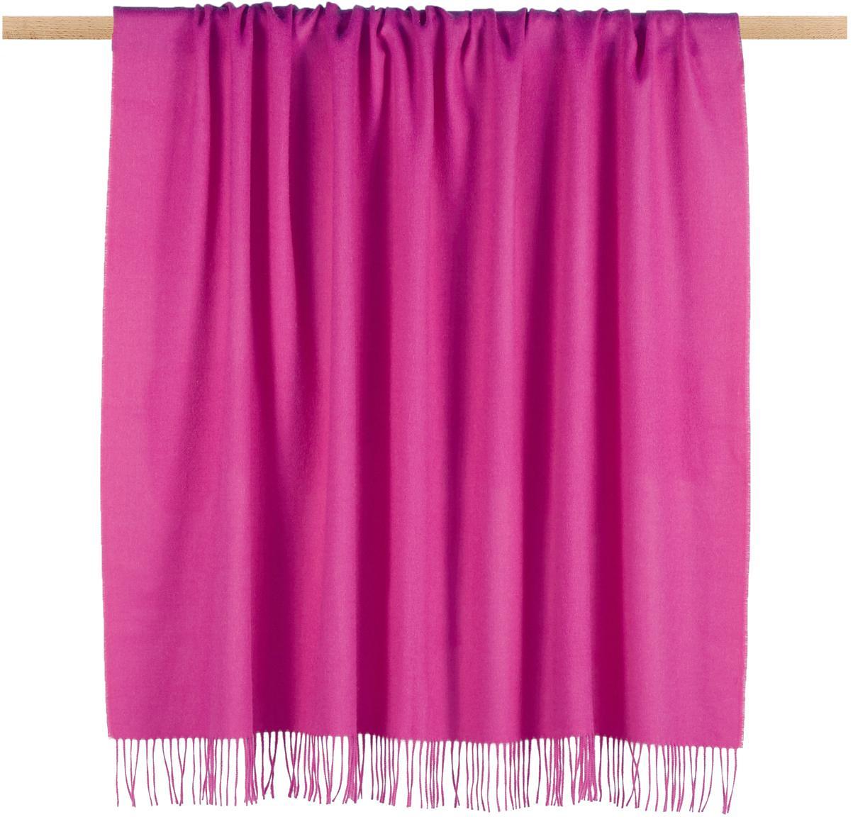 Alpacawollen plaid Luxury, Roze, 130 x 200 cm
