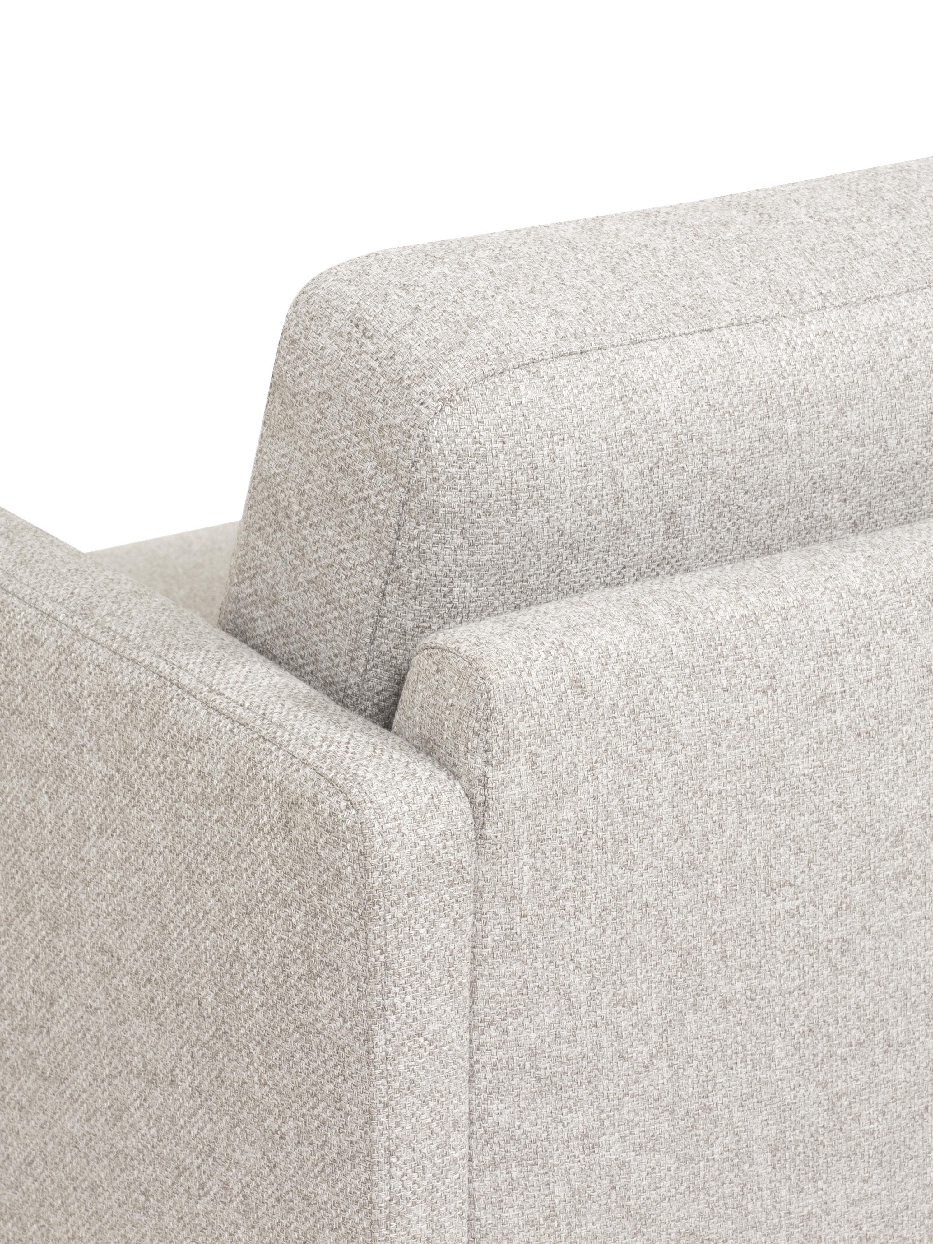 Canapé d'angle tissu beige Fluente, Tissu beige