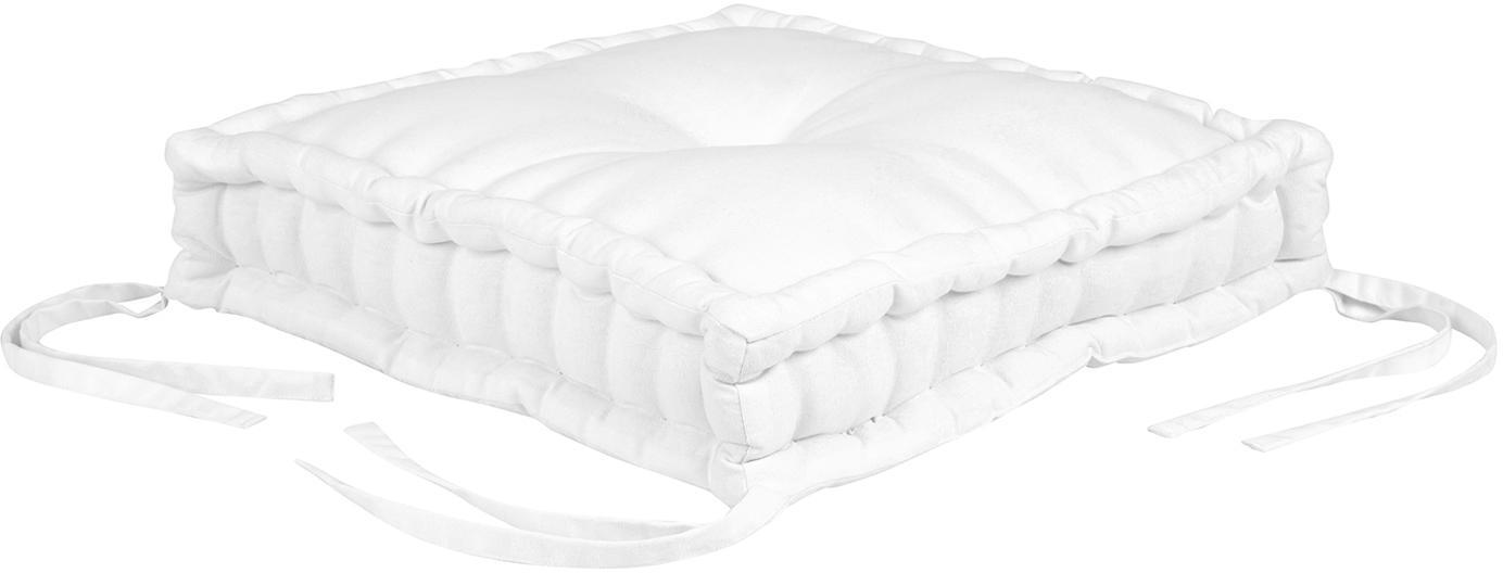 Cuscino sedia Kiara, Bianco crema, Larg. 45 x Lung. 45 cm