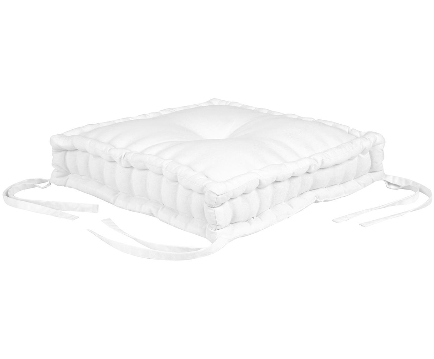 Cojín de asiento Kiara, Blanco crema, An 45 x L 45 cm