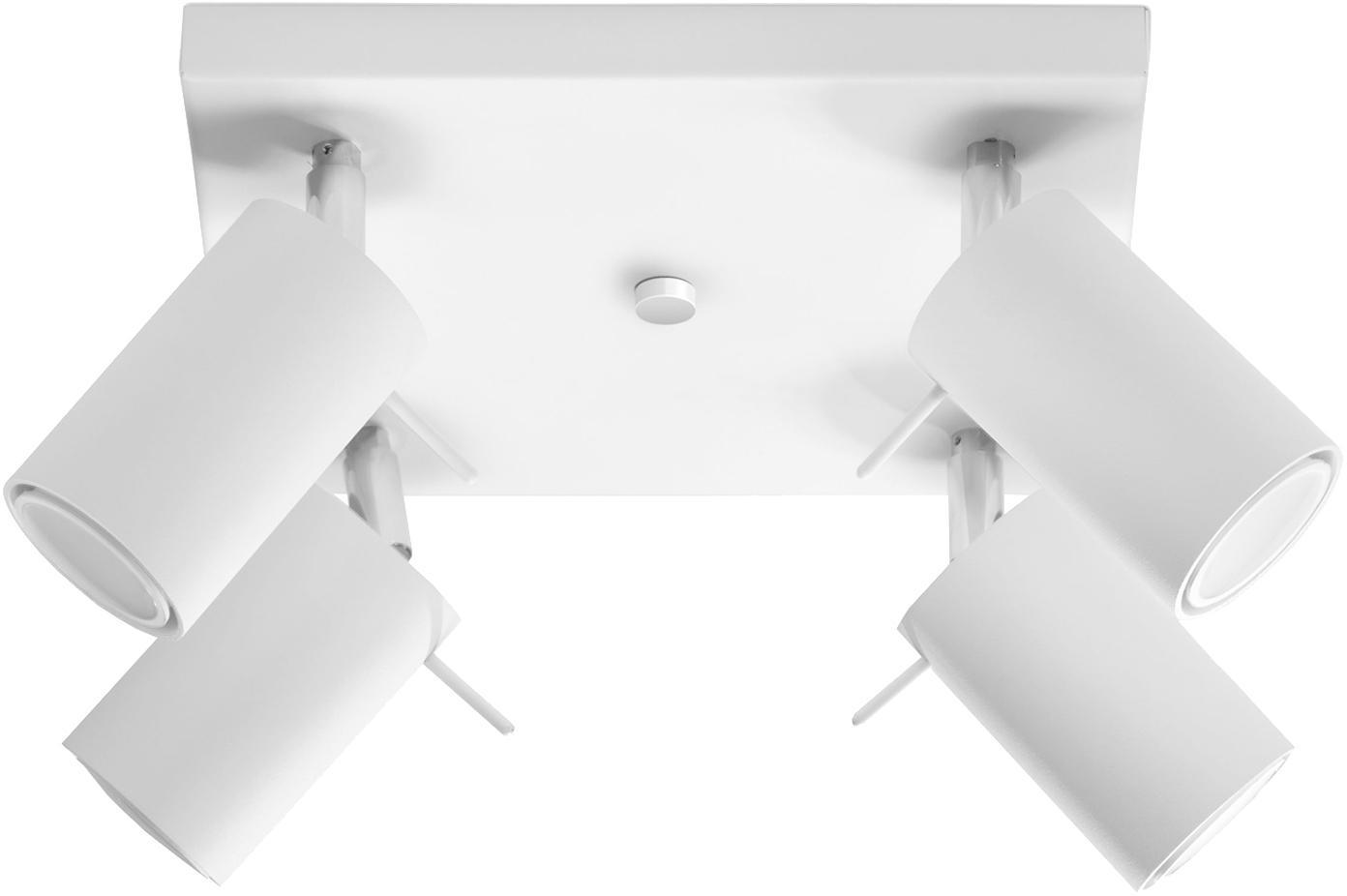 Plafondlamp Etna, Staal, Wit, 25 x 15 cm