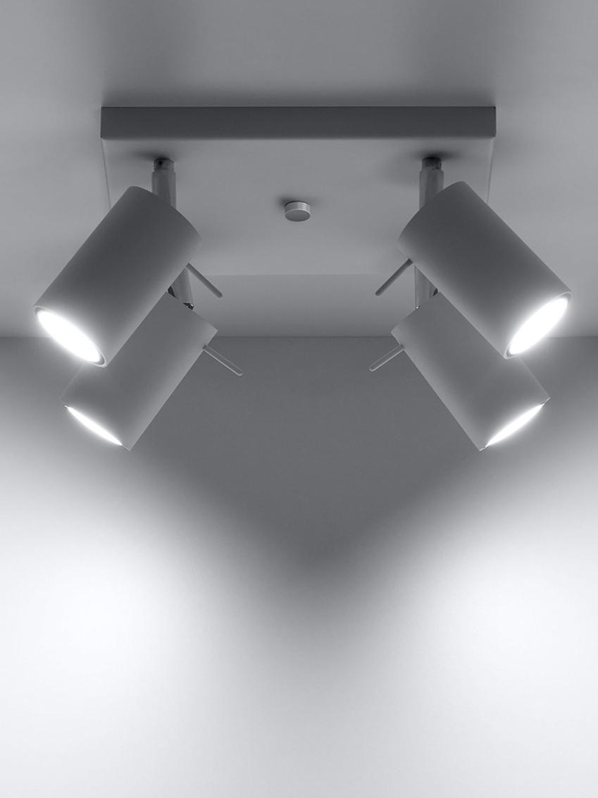 Deckenstrahler Etna in Weiß, Stahl, Weiß, 25 x 15 cm