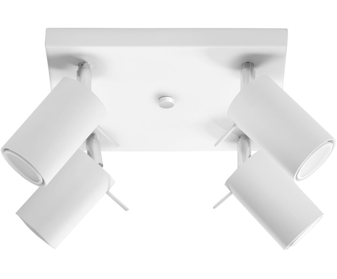 Deckenstrahler Etna in Weiss, Stahl, Weiss, 25 x 15 cm
