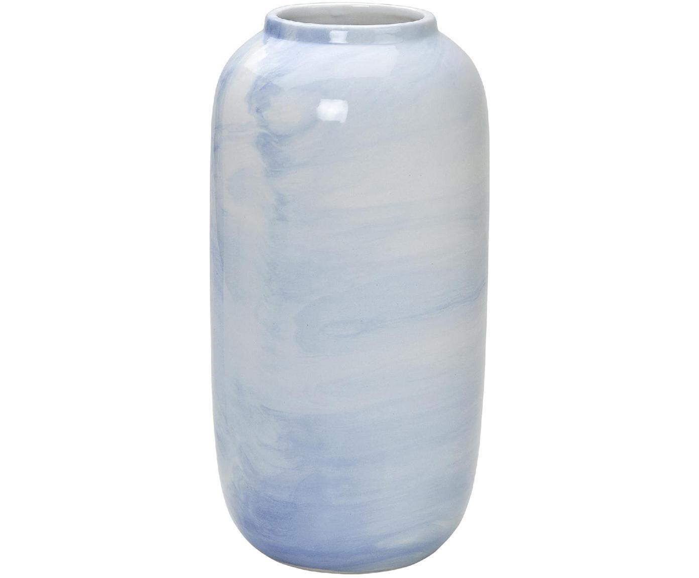 Vase Diluted aus Keramik, Keramik, Hellblau, Ø 13 x H 25 cm
