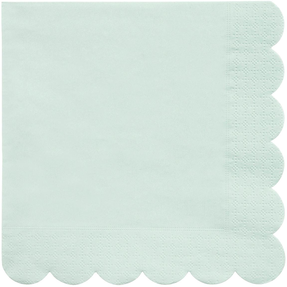 Papieren servetten Simply Eco, 20 stuks, Papier, Mintgroen, 33 x 33 cm