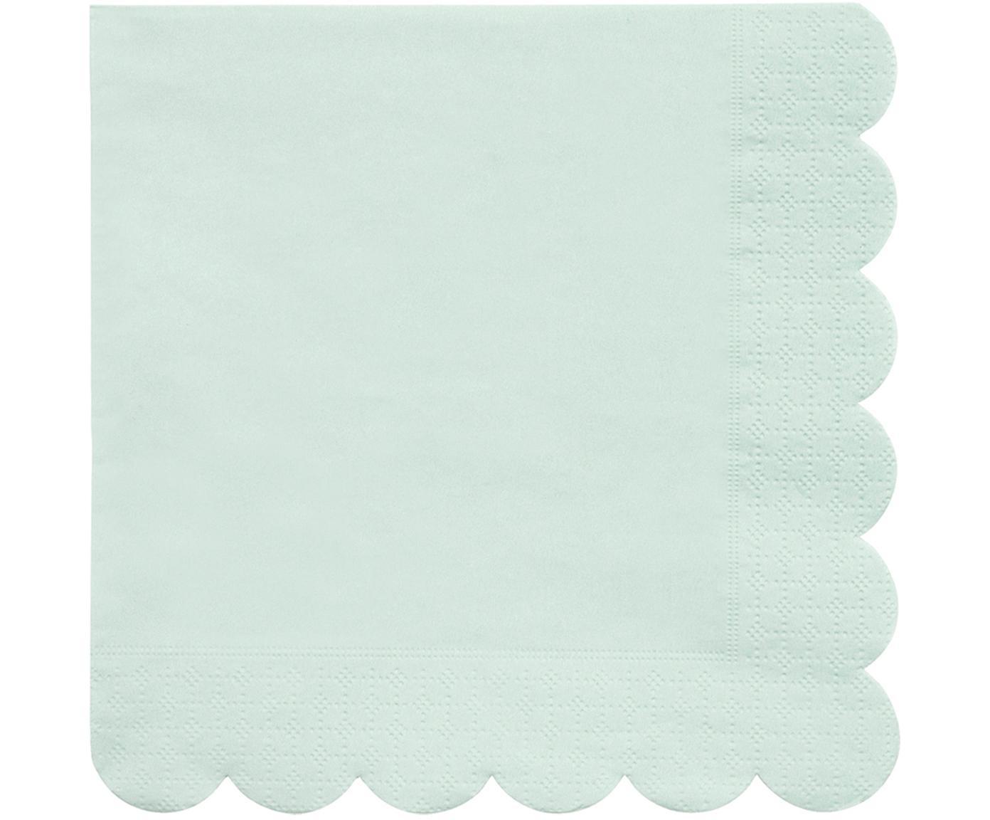 Papier-Servietten Simply Eco, 20 Stück, Papier, Mintgrün, 33 x 33 cm