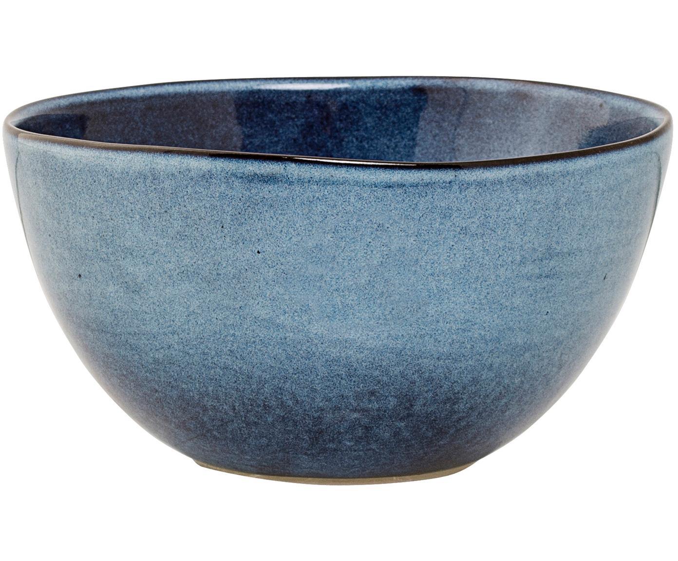Handgemachte Schälchen Sandrine in Blau, 6 Stück, Keramik, Blautöne, Ø 15 x H 8 cm